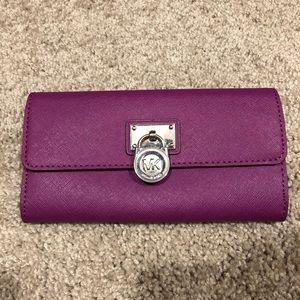 Michael Kors plum color wallet